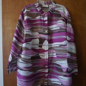 Alfred Dunner Women's Pink Top (Size: 16W)